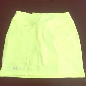 NWT Neon Yellow Under Armour Athletic Skort
